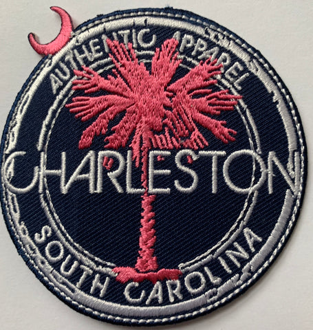 Charleston SC Authentic Apparel with Palm and moon embroidery patch