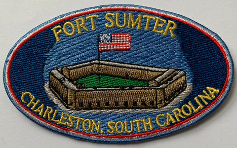 Fort Sumter Oval Embroidery Patch