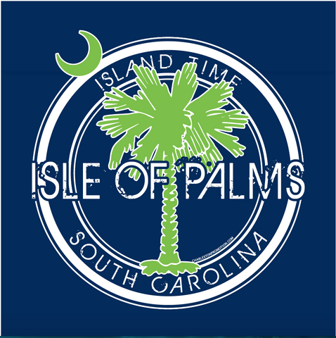 Isle of Palms with SC Palmetto Island Time Design Decal