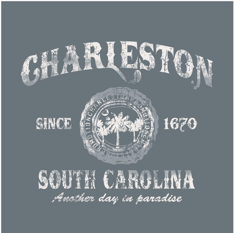 Charleston Seal Decal Charcoal