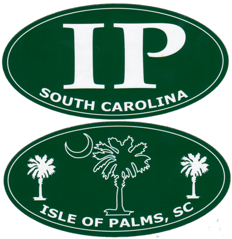 South Carolina Isle of Palms IP Green Die Cut Decals