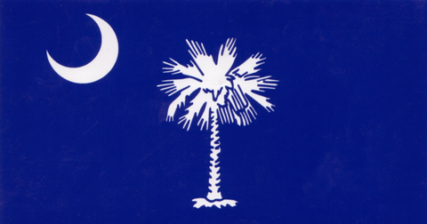 South Carolina - Palmetto and Moon - Decal