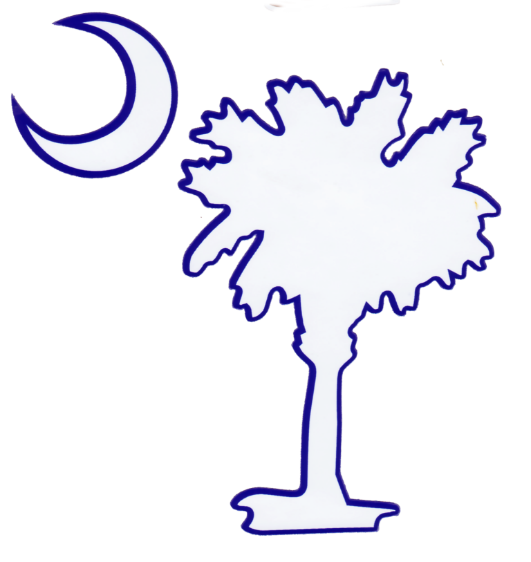 South Carolina Palmetto and Moon Custom Die Cut Decal