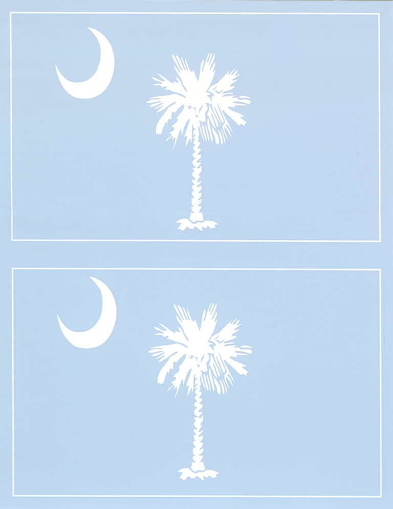 Palmetto and Moon Double Decal