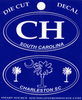 Charleston CH Blue Die Cut Decals