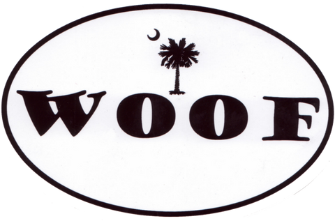 Palmetto Moon Woof Decal