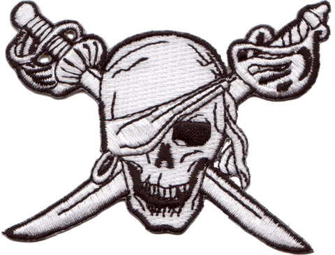 Caribbean Pirate Embroidery Patch