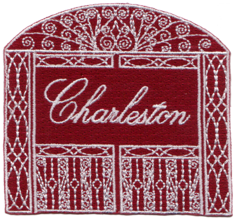 Charleston Gate Embroidery Patch