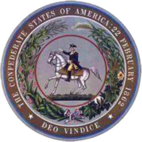 Confederate States of America Seal Embroidery Patch