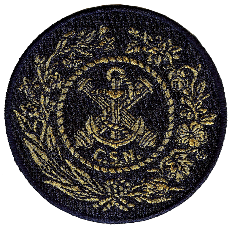 Confederate States Navy CSN Embroidery Patch