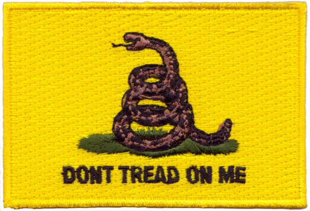 Gadsden Don't Tread on Me Embroidery Patch