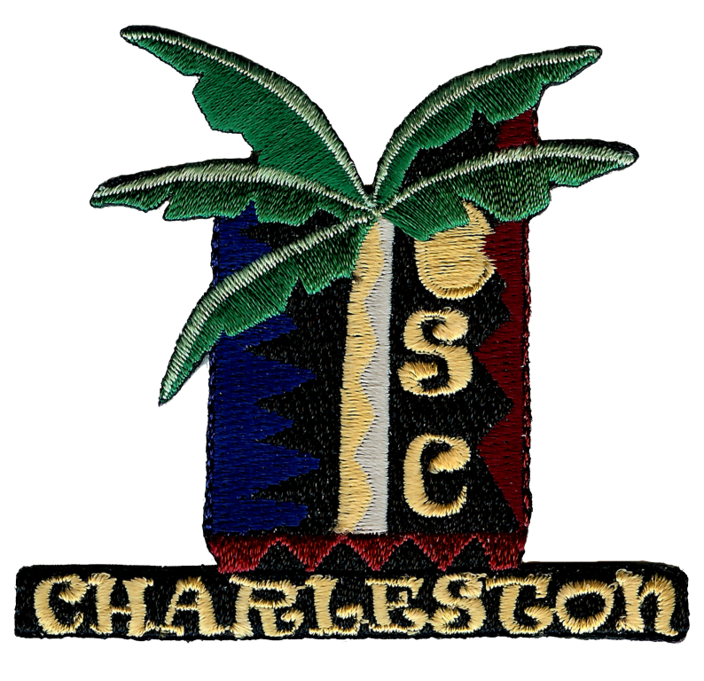 Charleston SC Palmetto Tree Embroidery Patch