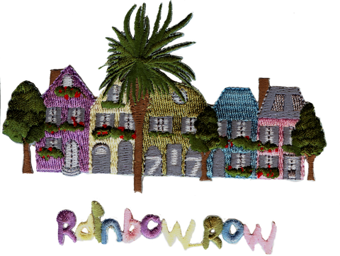 Charleston Rainbow Row Embroidery Patches
