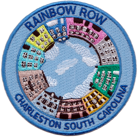 Charleston Rainbow Row Embroidery Patch