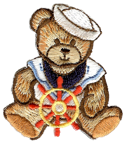 Sailor Bear Embroidery Patch