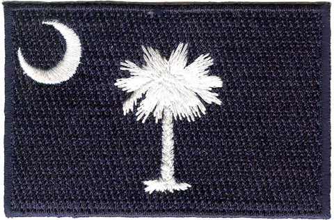South Carolina Palmetto and Moon Embroidery Patch