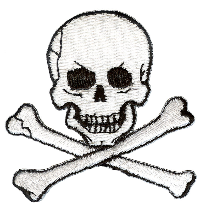 Jolly Roger Skull and Crossbones Embroidery Patch