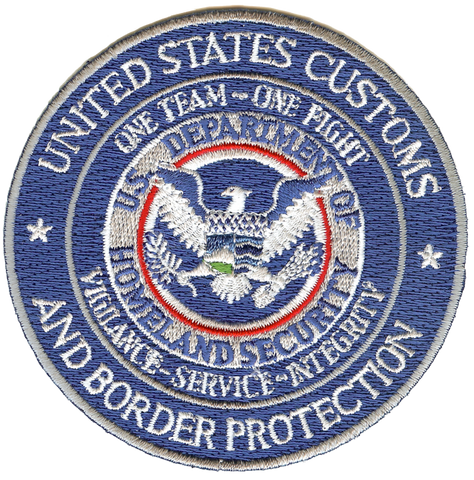 United States Customs Embroidery Patch