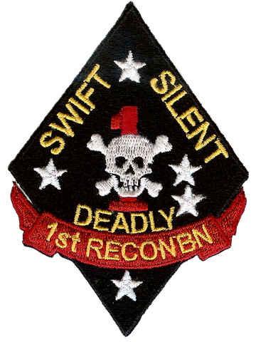 USMC 1st Recon Battalion Swift Silent Deadly Embroidery Patch