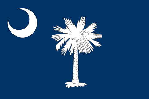 South Carolina - Palmetto and Moon - Flag