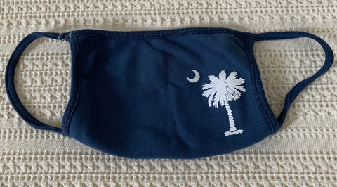 Mask face cover with a SC Palmetto theme