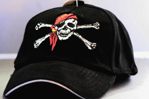 Jolly Roger Skull and Crossbones Pirate Hat