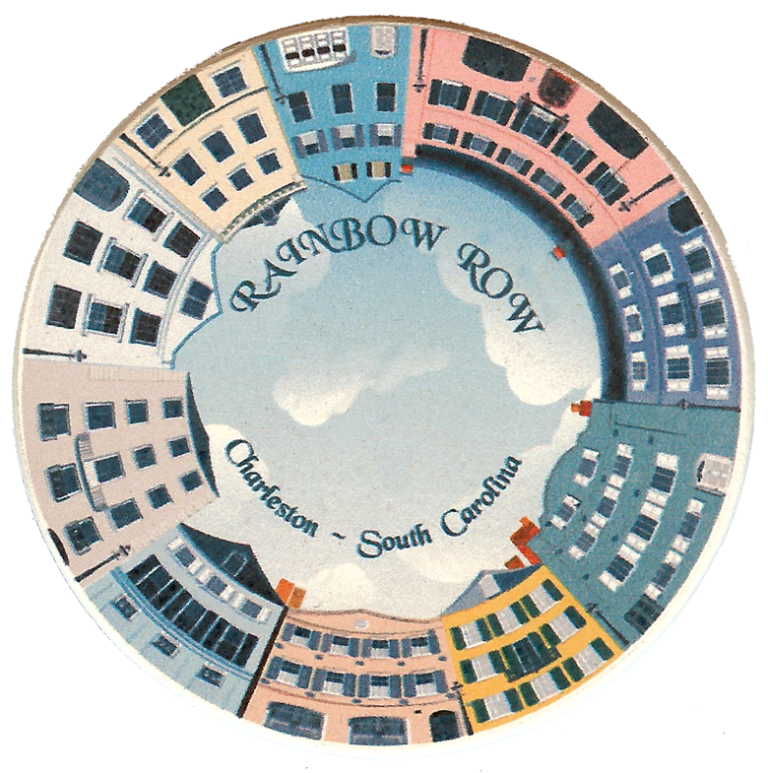 Charleston Rainbow Row Round Magnet