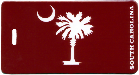 South Carolina - Palmetto and Moon - Luggage Tag