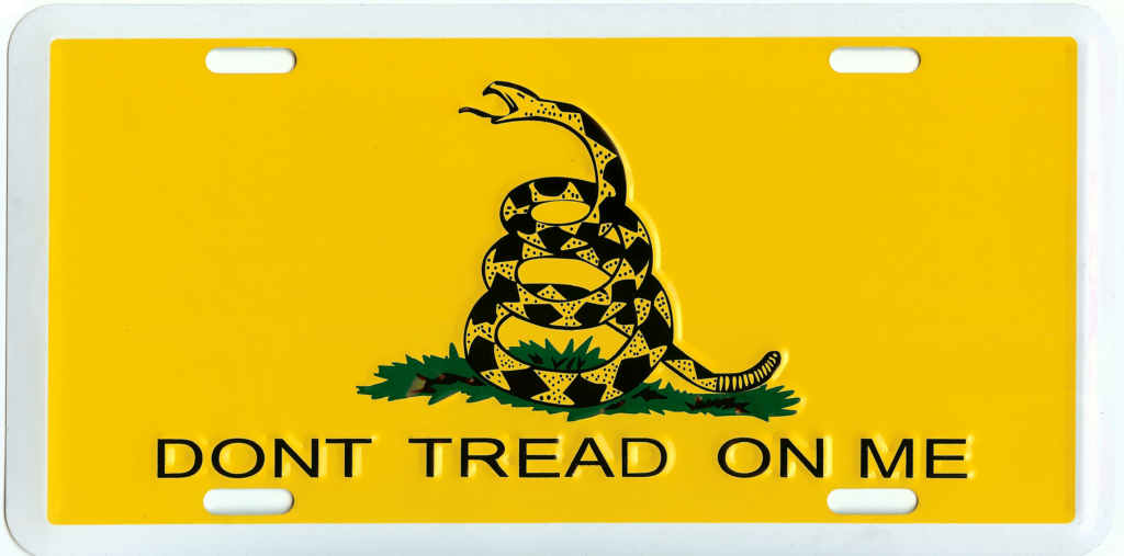 Gadsden - Don't Tread on Me - License Plate