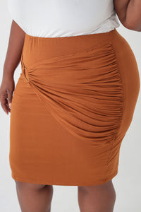 Almond Overlay Skirt - KIN by Kristine