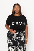 Load image into Gallery viewer, Black Curved Hem CRVY Tee - KIN by Kristine