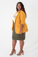 Load image into Gallery viewer, Mustard Classic Blazer - KIN by Kristine