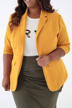 Load image into Gallery viewer, Mustard Classic Blazer - KIN by Kristine (3999772835949)