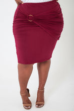 Load image into Gallery viewer, Burgundy Overlay Skirt - KIN by Kristine