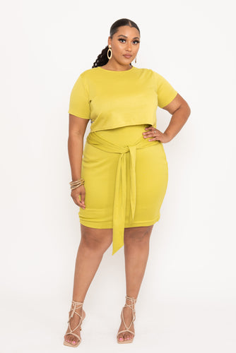 Citron Waist Tie Skirt - KIN by Kristine