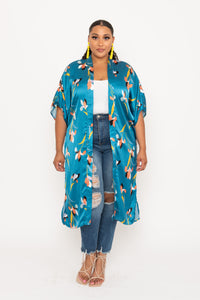 Silky Printed Duster - KIN by Kristine