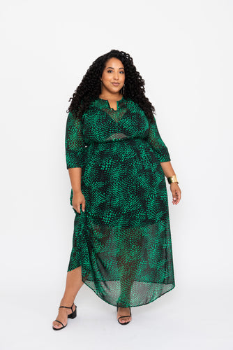 Emerald & Black Maxi Dress - KIN by Kristine