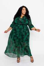 Load image into Gallery viewer, Emerald & Black Maxi Dress - KIN by Kristine