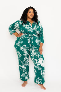 Emerald Printed Wide Leg Pants - KIN by Kristine