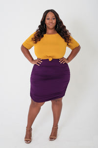 Mustard & Plum Colorblock Dress - KIN by Kristine