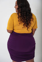 Load image into Gallery viewer, Mustard & Plum Colorblock Dress - KIN by Kristine