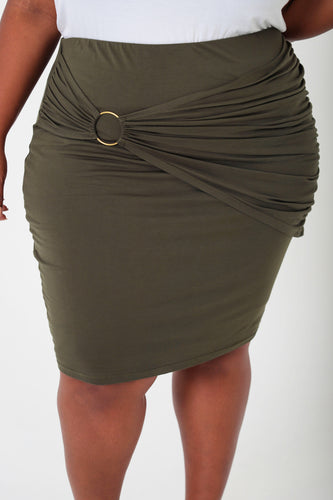Olive Overlay Skirt - KIN by Kristine