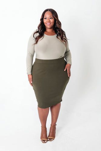 Ponte Pencil Skirt - KIN by Kristine