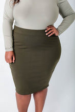 Load image into Gallery viewer, Ponte Pencil Skirt - KIN by Kristine