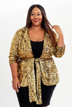Load image into Gallery viewer, Gold Sequin Blazer - KIN by Kristine