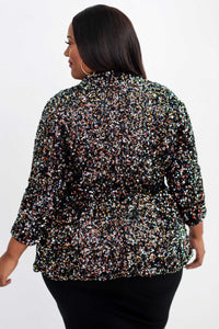Multi-Color Sequin Blazer - KIN by Kristine