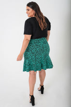 Load image into Gallery viewer, Cheetah Jacquard Trumpet Skirt - KIN by Kristine