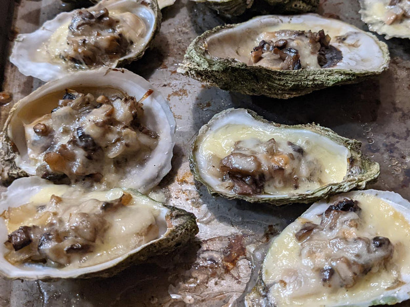 Baked Oysters with Mushrooms