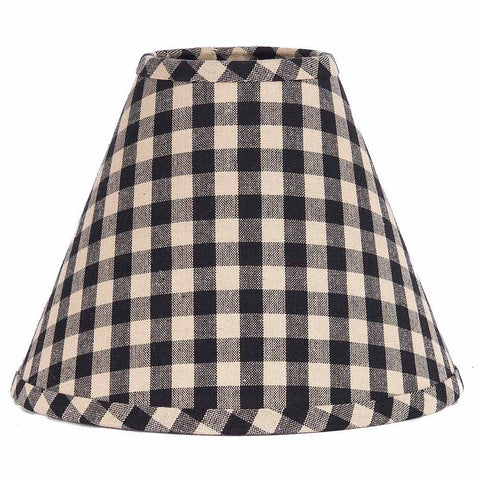 Heritage House Black Check Lampshade - Farmhouse-Primitives