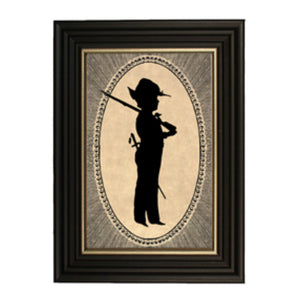 1864 Boy with Rifle Silhouette - Farmhouse-Primitives